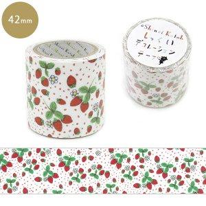 しっくいデコレーションテープ 42mm幅[strawberry land]