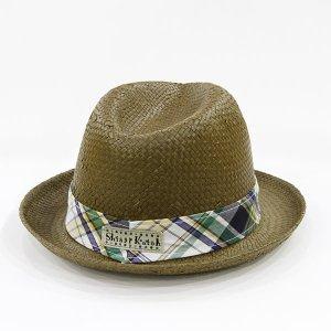 【数量限定】Shinzi Katohの帽子[チェック_ブラウン]54cm