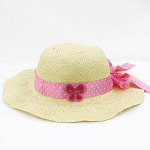 【数量限定】Shinzi Katohの帽子[ドットリボン_ベージュ]54cm