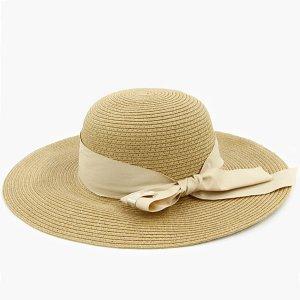 【数量限定】Shinzi Katohの帽子[リボン_ベージュ]57.5cm