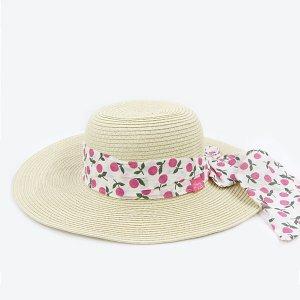 【数量限定】Shinzi Katohの帽子[フルーツリボン_ホワイト]54cm