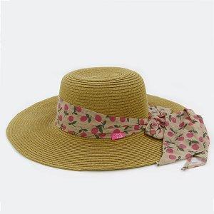 【数量限定】Shinzi Katohの帽子[フルーツリボン_ベージュ]54cm