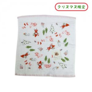 【3�ゆうパケット対応】クリスマスゲストタオル 赤ずきん