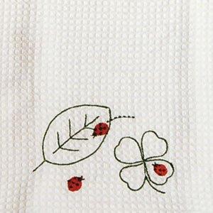 ふきぴか 刺繍タイプ[葉っぱとてんとう虫]