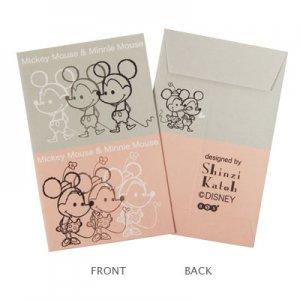 【ゆうパケット対応】ミニ封筒(長方形)5枚セット[Mickey&Minnie]