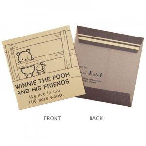 【ゆうパケット対応】ミニ封筒(正方形)5枚セット[Winnie The Pooh]
