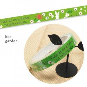 【ゆうパケット対応】デコテープ[her garden]