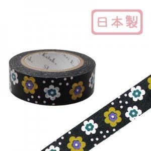 【ゆうパケット対応】マスキングテープ(15mm幅)[flower2]