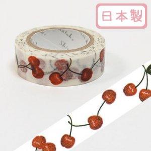 【ゆうパケット対応】マスキングテープ(15mm幅)[cherry2]