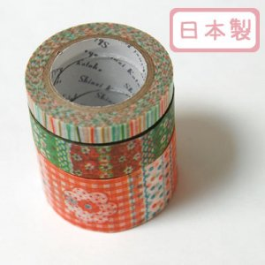 A Story Masking Tape マスキングテープ3巻セット[flower1]
