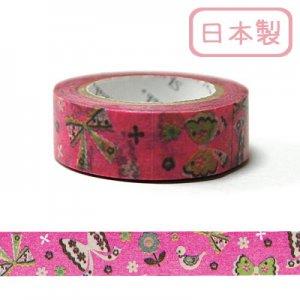 【ゆうパケット対応】マスキングテープ(15mm幅)[flower&ribbon]