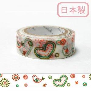 【ゆうパケット対応】マスキングテープ(15mm幅)[doodle]