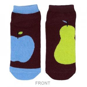 【ゆうパケット対応】レディースソックス[Apple & pear big]
