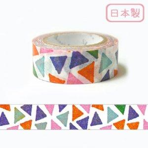 【ゆうパケット対応】いろは和紙テープ(15mm幅)[三角]