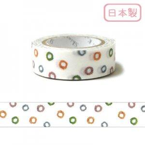 【ゆうパケット対応】いろは和紙テープ(15mm幅)[水]