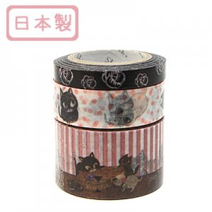 A Story Masking Tape マスキングテープ3巻セット[cat cat cat]