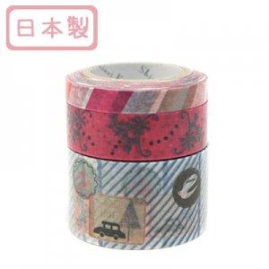 A Story Masking Tape マスキングテープ3巻セット[paris stamp]