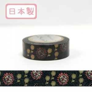 【ゆうパケット対応】Masking Tape Plus -Parisランタン-[flower8](15mm幅)
