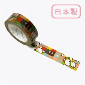 【ゆうパケット対応】Masking Tape Plus -Parisランタン-[Sorabear colorful](15mm幅)