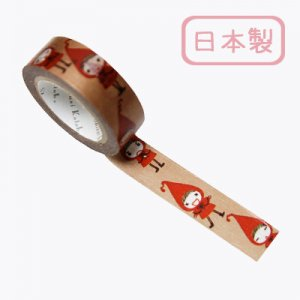 【ゆうパケット対応】Masking Tape Plus -Parisランタン-[red hood pochon expression](15mm幅)