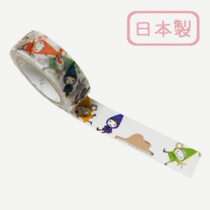 【ゆうパケット対応】Masking Tape Plus -Parisランタン-[red hood pochon colorful](15mm幅)