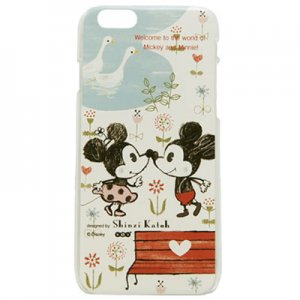iPhone6ケース[Mickey&Minnie_Kiss]