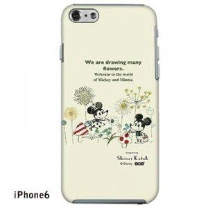 【ゆうパケット対応】iPhone6ケース[ミッキー&ミニー お絵描き]