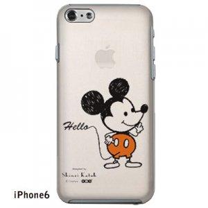 【ゆうパケット対応】iPhone6・6Plusケース[ミッキー(クリア)]