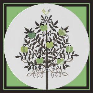 メーレ 31cmプレスプレート[apple tree]