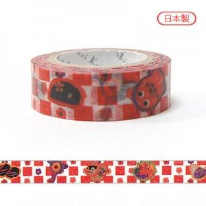 【ゆうパケット対応】マスキングテープ(15mm幅)[市松]