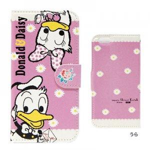 PU製 iPhone6ケース[Donald&Daisy]