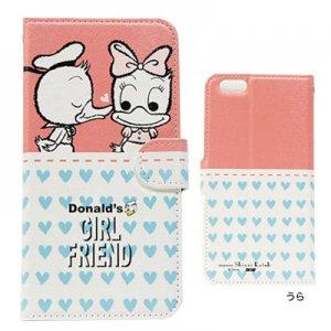 PU製 iPhone6 PLUSケース[Donald&Daisy]