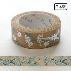 【ゆうパケット対応】クラフトデコレーションテープ-きらぴか-[eiffel]
