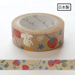 【ゆうパケット対応】クラフトデコレーションテープ-きらぴか-[strawberry]