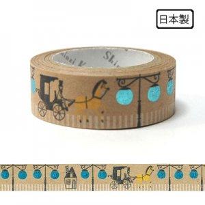 【ゆうパケット対応】クラフトデコレーションテープ-きらぴか-[Carriage]