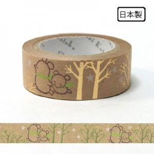 【ゆうパケット対応】クラフトデコレーションテープ-きらぴか-[Sorabear forest]