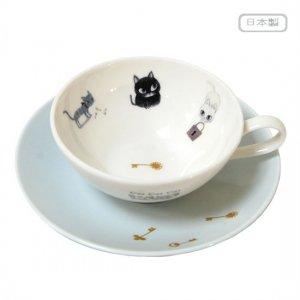 Cat Cat Cat ティー碗皿[カギ]