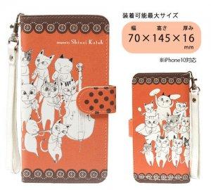 汎用手帳型スマートフォンカバーM[Cat orchestra 02]