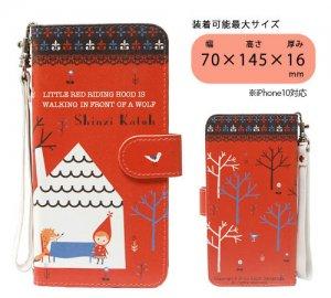汎用手帳型スマートフォンカバーM[Red hood]