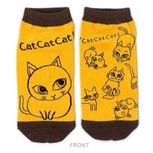 【ゆうパケット対応】レディースソックス[Cat cat cat]