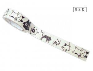 【ゆうパケット対応】ばななぺーぱーTape[UNEVEN CATS](15mm幅)