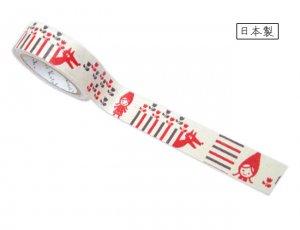 【ゆうパケット対応】ばななぺーぱーTape[RED HOOD](15mm幅)
