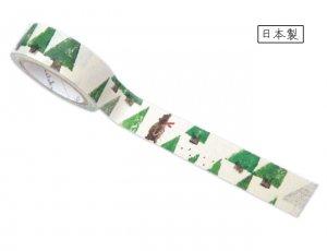 【ゆうパケット対応】ばななぺーぱーTape[FOREST](15mm幅)