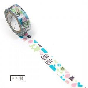 【ゆうパケット対応】マスキングテープ(15mm幅)[flowery bear]