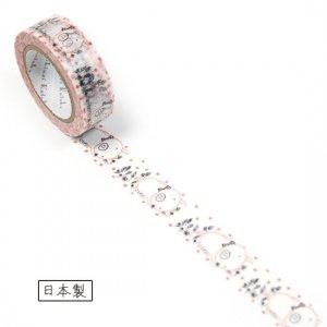 【ゆうパケット対応】マスキングテープ(15mm幅)[animal feeling pig]