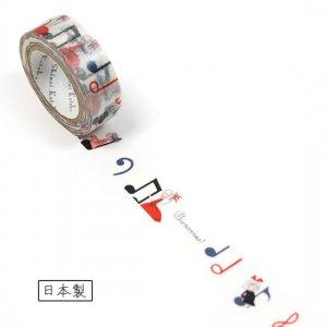 【ゆうパケット対応】マスキングテープ(15mm幅)[cheerful note1]