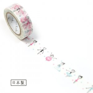 【ゆうパケット対応】マスキングテープ(15mm幅)[ballet tutu]
