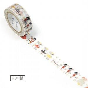 【ゆうパケット対応】マスキングテープ(15mm幅)[ballet nutcracker]