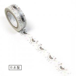【ゆうパケット対応】マスキングテープ(15mm幅)[bird tiara]