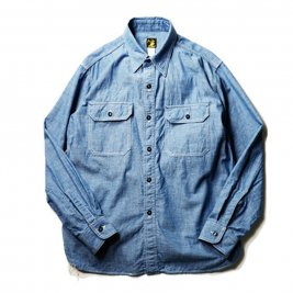 <img class='new_mark_img1' src='//img.shop-pro.jp/img/new/icons1.gif' style='border:none;display:inline;margin:0px;padding:0px;width:auto;' />AND FAMILY'S / CHAMBRAY WORK SHIRTS